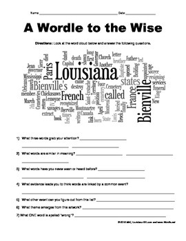 "LOUISIANE - A ""Wordle"" to the Wise"
