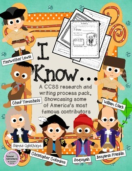 LOUIS AND CLARK, COLUMBUS AND MORE RESEARCH AND WRITING PACK