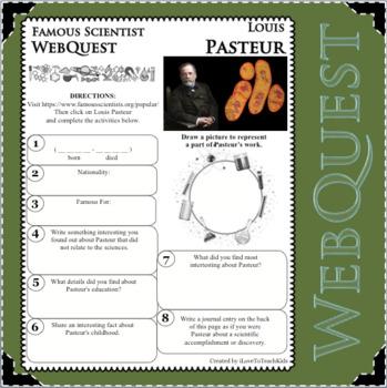 LOUIS PASTEUR - WebQuest in Science - Famous Scientist - Differentiated