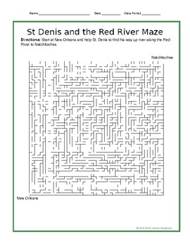 LOUISIANE  St. Denis and the Red River Maze