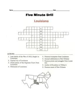 LOUISIANA - 5 minute drill