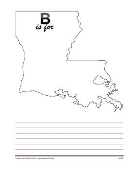 LOUISIANA - ABC Booklet