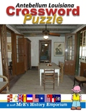 LOUISIANA Antebellum Crossword Puzzle