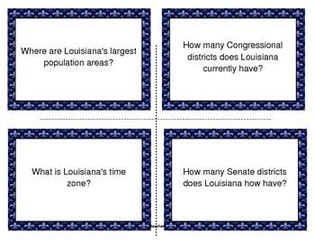 LOUISIANA - Atlas Task Cards