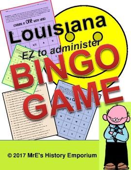 LOUISIANA   Bingo Boards and Questions