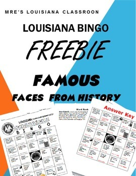 LOUISIANA - Bingo Famous People (FREEBIE)