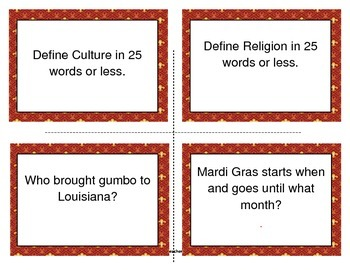 LOUISIANA - Ch. 01 Task Cards