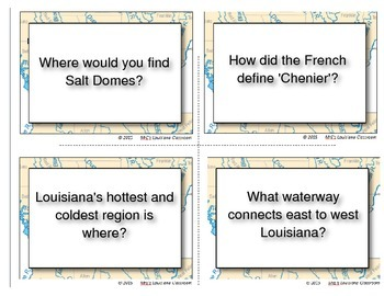 LOUISIANA - Ch. 02 Task Cards - Rivers & Regions
