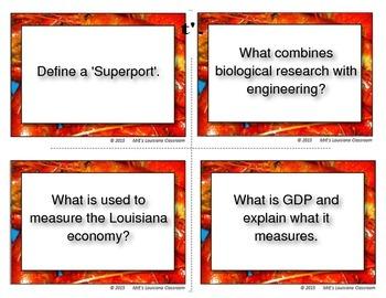 LOUISIANA - Ch. 03 Economy Task Cards