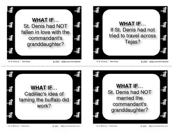 """LOUISIANA - Ch.06 """"What If"""" Task Cards"""