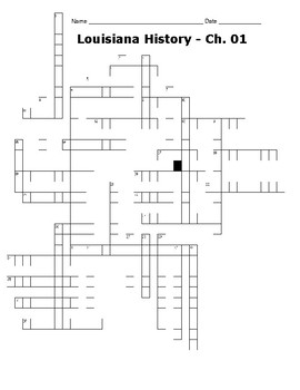 LOUISIANA Ch. 1 Crossword Puzzle