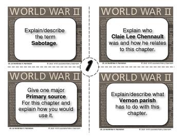 LOUISIANA - Ch. 14 WWII Task Cards