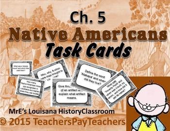 "LOUISIANA - Ch.05 ""Native Americians"" Task Cards"