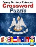 LOUISIANA Colony to Territory to Statehood Crossword Puzzle