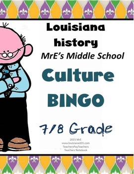 LOUISIANA - Culture-Festivals-Families BINGO