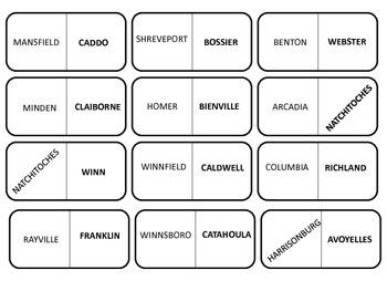 LOUISIANA - DOMINOES For La Geography