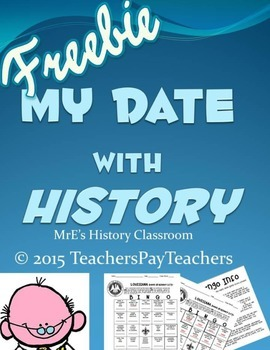 LOUISIANA - My Date with History Bingo