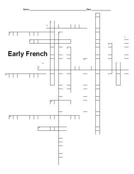 LOUISIANA Early French Crossword Puzzle