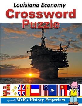 LOUISIANA Economy Crossword Puzzle