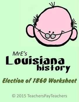 LOUISIANA - Election of 1860