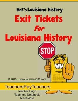 LOUISIANA - Exit Tickets