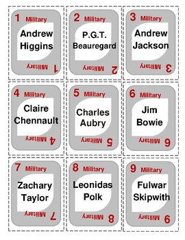 LOUISIANA   Famous People UNO-style game