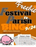 LOUISIANA - Festival vs Parish E/C Bingo