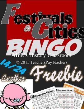 LOUISIANA - Festivals & Cities E/C Bingo Freebie