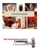 LOUISIANA - Festivals Map