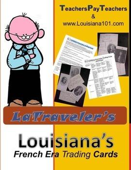 LOUISIANA - French Explorers Cards