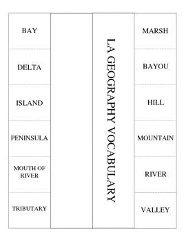 LOUISIANA - Geography Notes - (LapBook)