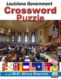 LOUISIANA Government Crossword Puzzle