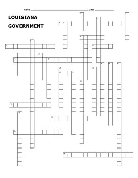 LOUISIANA Government Crossword Puzzle