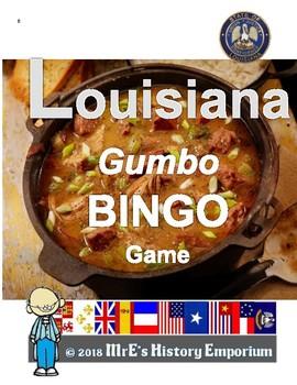 LOUISIANA   Gumbo BINGO game