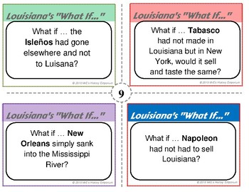 LOUISIANA HISTORY What If Task Cards #004