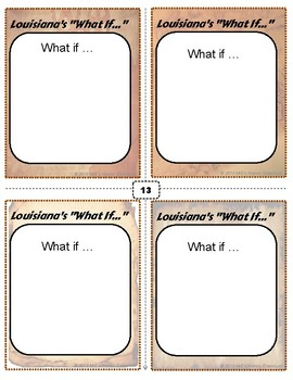 LOUISIANA HISTORY   What If... Task Cards #005