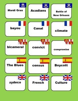 LOUISIANA - History Pictionary