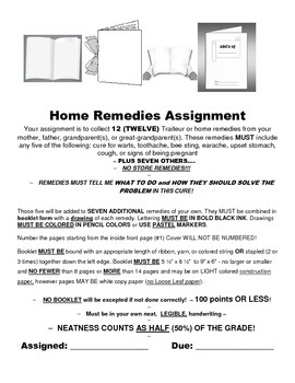 LOUISIANA - Home Remedies Assignment