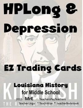 LOUISIANA - Huey Long Era 20 EZ Trading Cards