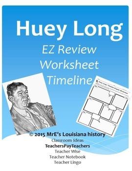 LOUISIANA - Huey Long Graphic Timeline