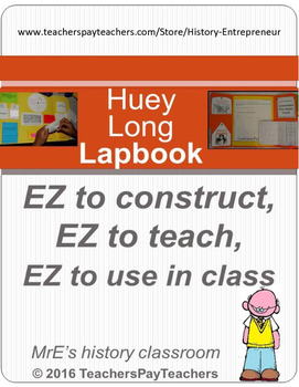 LOUISIANA  Huey P. Long Lapbook