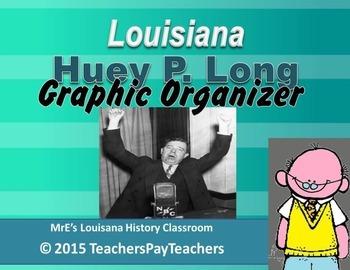LOUISIANA - Huey Pierce Long Graphic Organizer