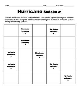 LOUISIANA - FREEBIE Hurricane Sudoku 1 & 2