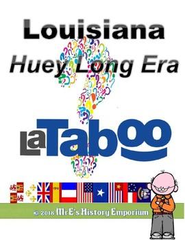 LOUISIANA  LaTABOO (Plays like Taboo) Huey Long Era Game