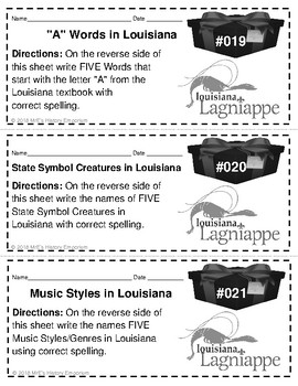 "LOUISIANA Lagniappe Q&A or ""A Little Something Extra"""