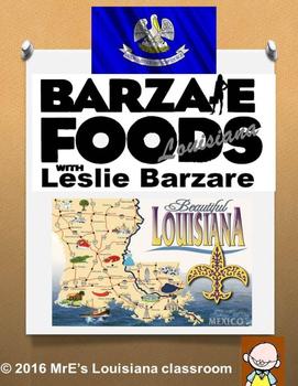 LOUISIANA  Leslie Baraze Foods (& Map)