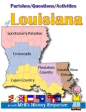LOUISIANA   Map/Questions/Activities