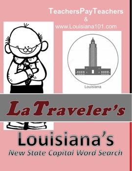 LOUISIANA - NEW State Capital Word Search