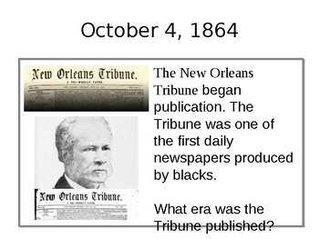 LOUISIANA On this Date in Louisiana History for October