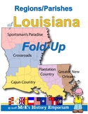 LOUISIANA Parish/Regions FoldUp activity/worksheet